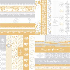 Picture of The Wedded Bliss Collection by Katie Pertiet  Border Strips-Set 12
