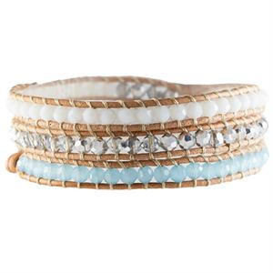 Picture of Pool Blue Crystal Beaded Wrap
