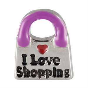 Picture of I Love Shopping Charm