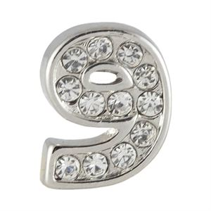 Picture of Silver Number Nine Charm